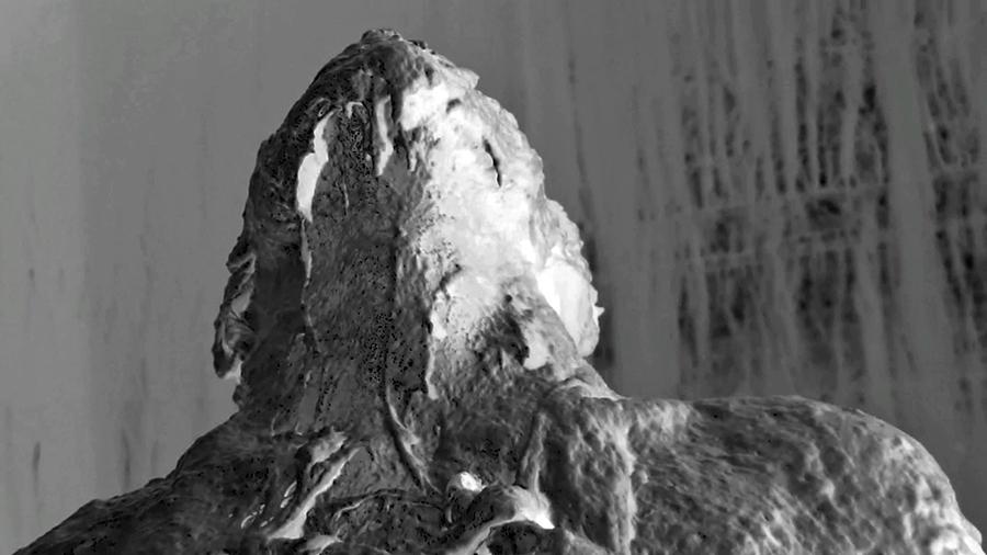 """Nine Months Of The Same Conversation: Still"" Bread Dough, Artist's Body 16:30 2014"