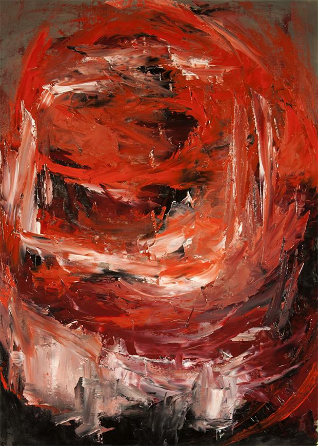 """""""Meditation: II"""" Oil on paper 24"""" x 36"""" 2013"""