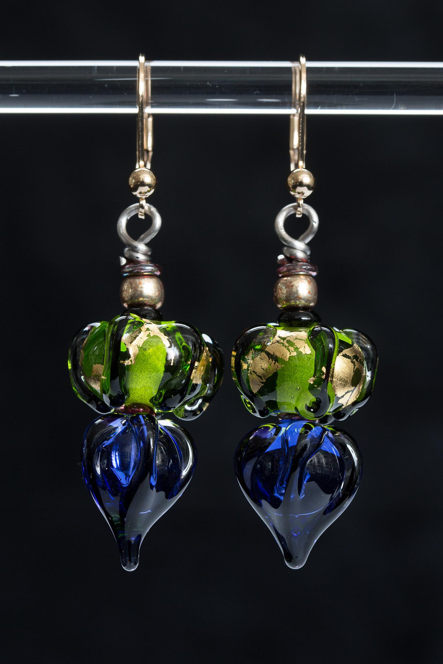 Blue/Green Lantern Earrings