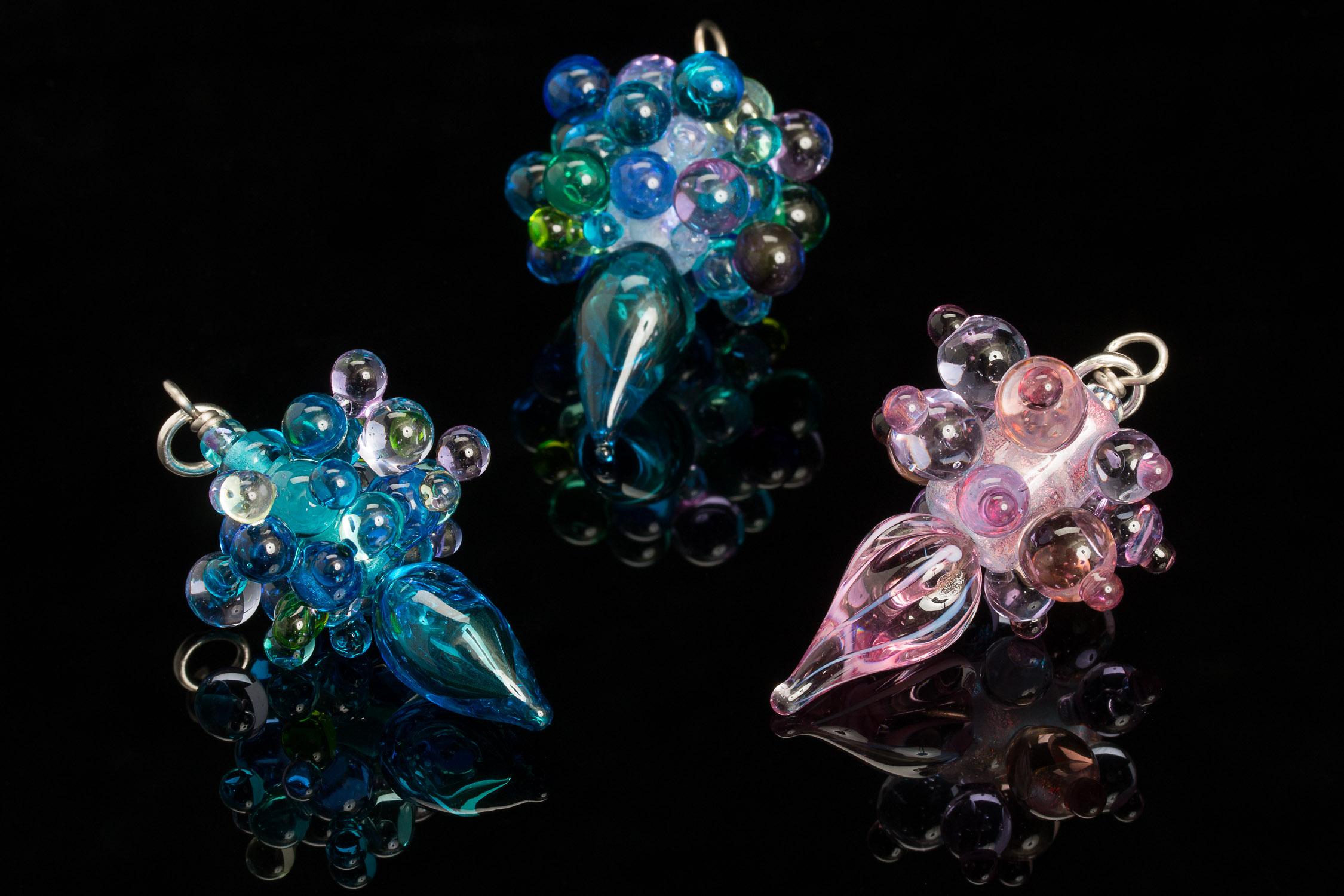 Dichroic Bubble Pendants