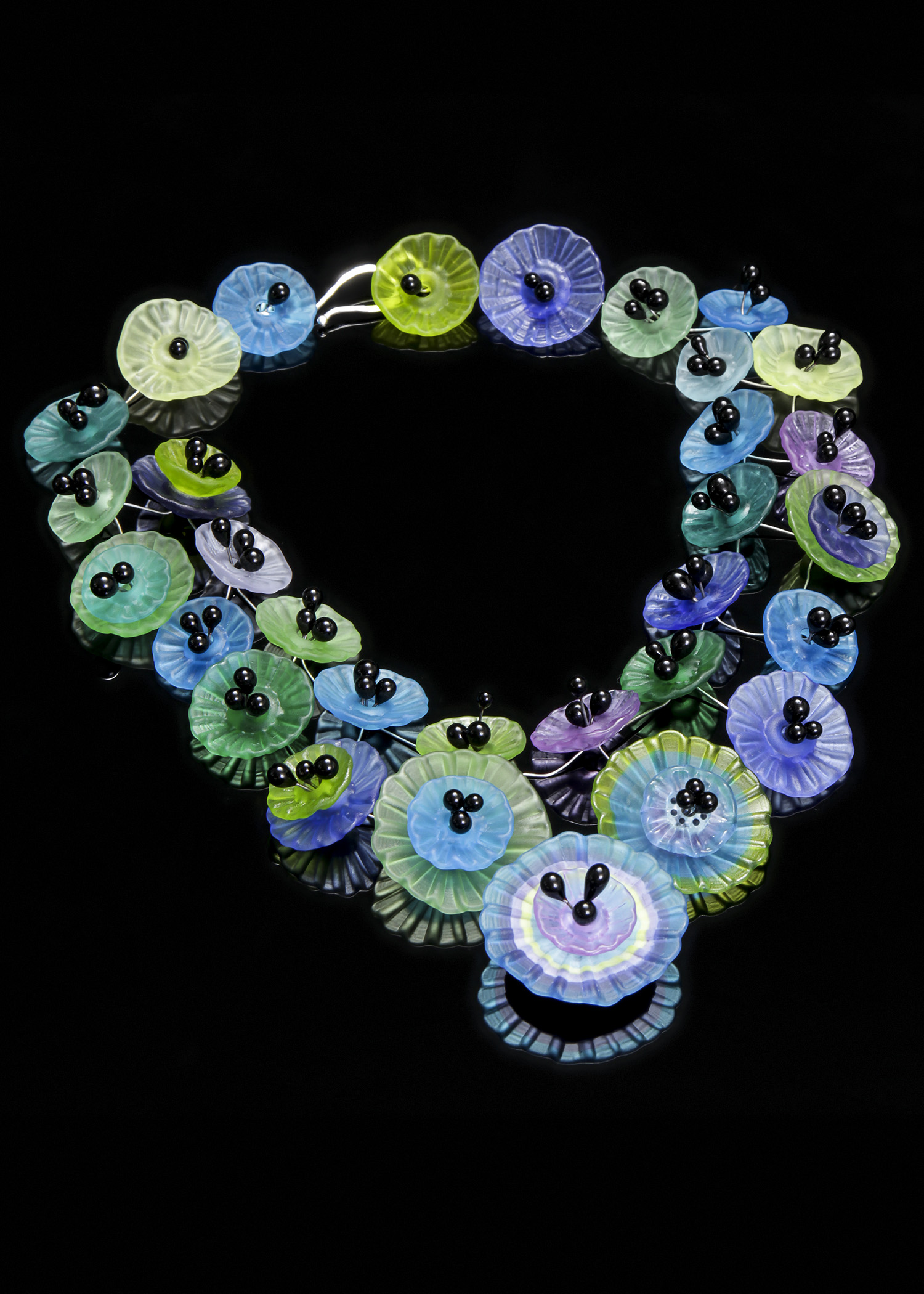 Waterlily Waterfall Necklace