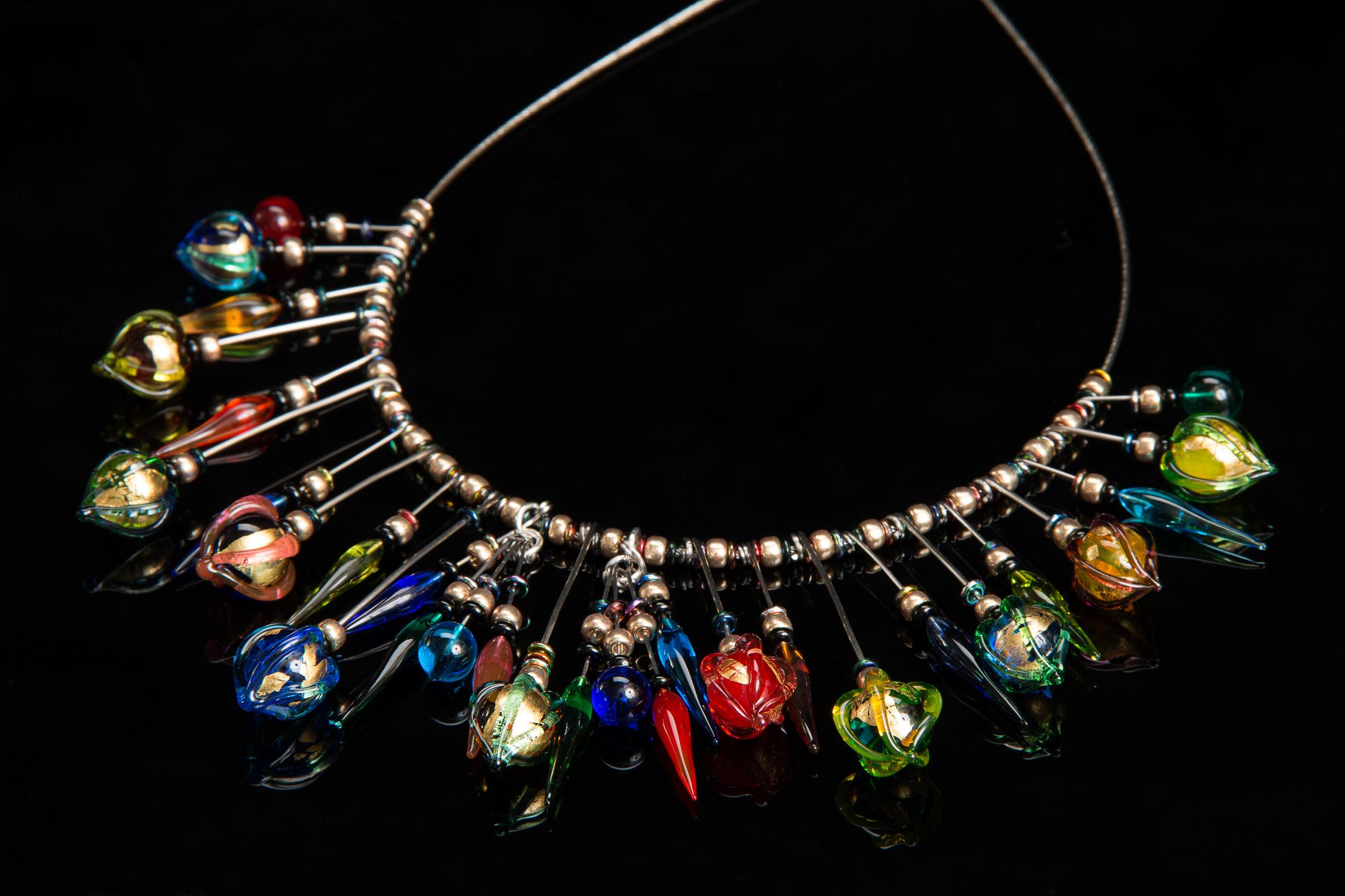 Gold Leaf Orb Primary Tribal Necklace