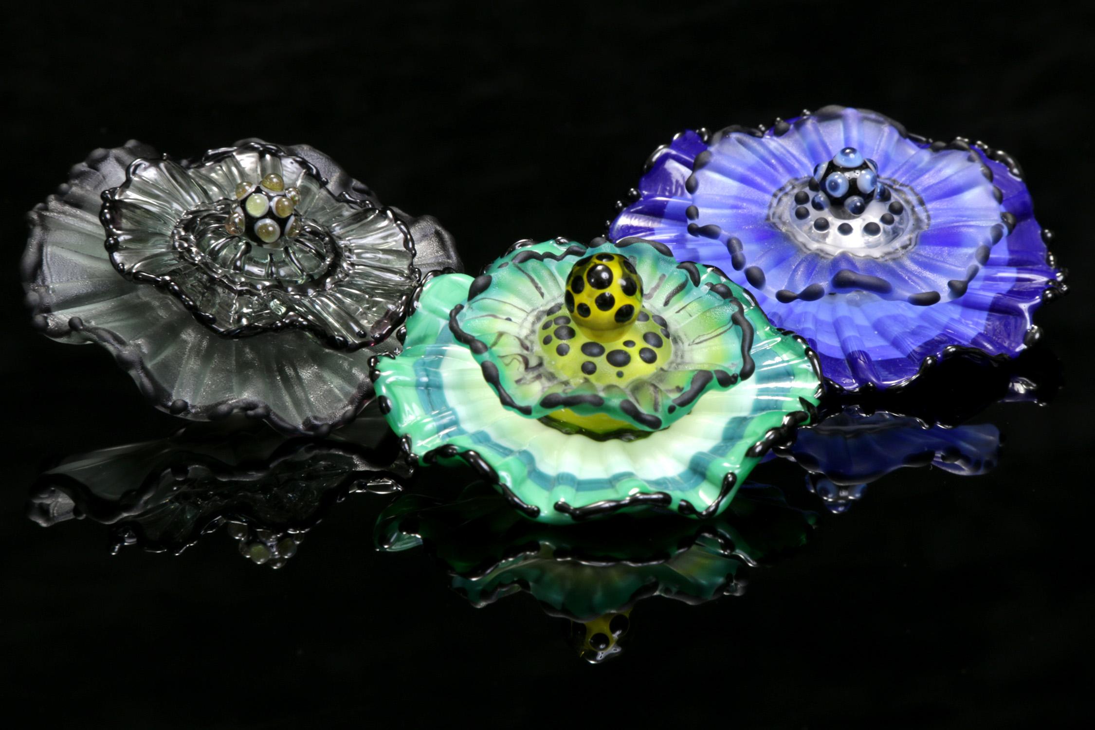 Three Anemone Pendants