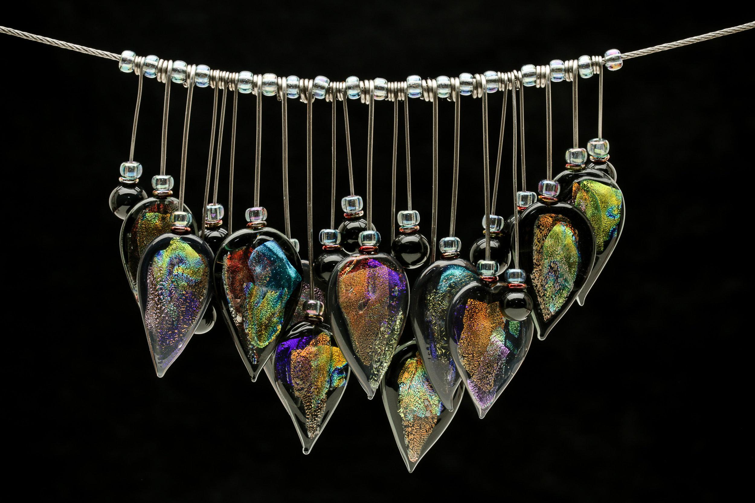 Black Dichro Tribal Necklace