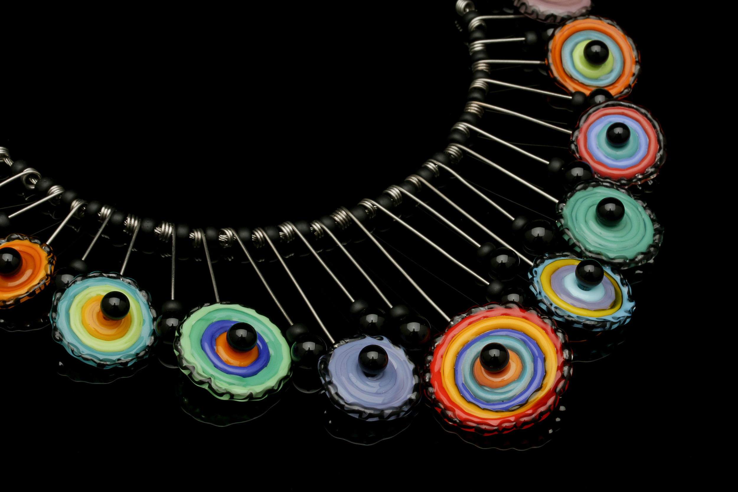 Primary Disks Tribal Necklace