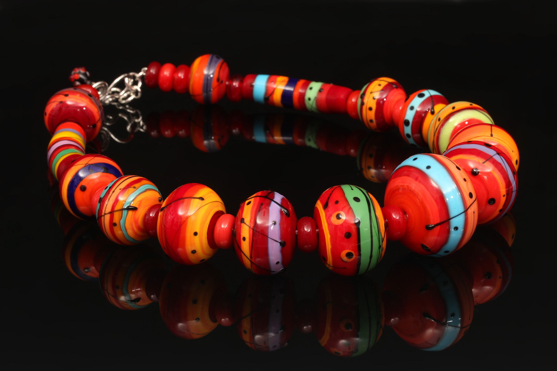Fireside Whispers Hollow Bead Necklace