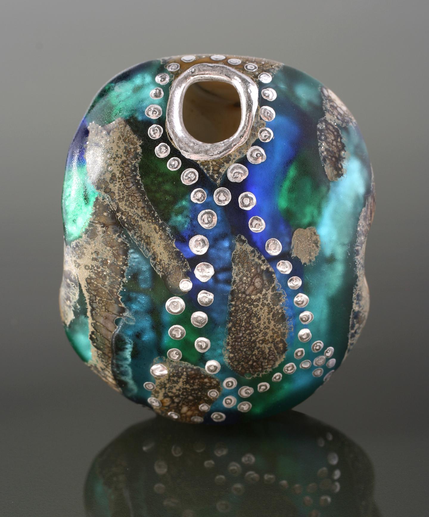 Aqua/Blue Dream Pod Bead