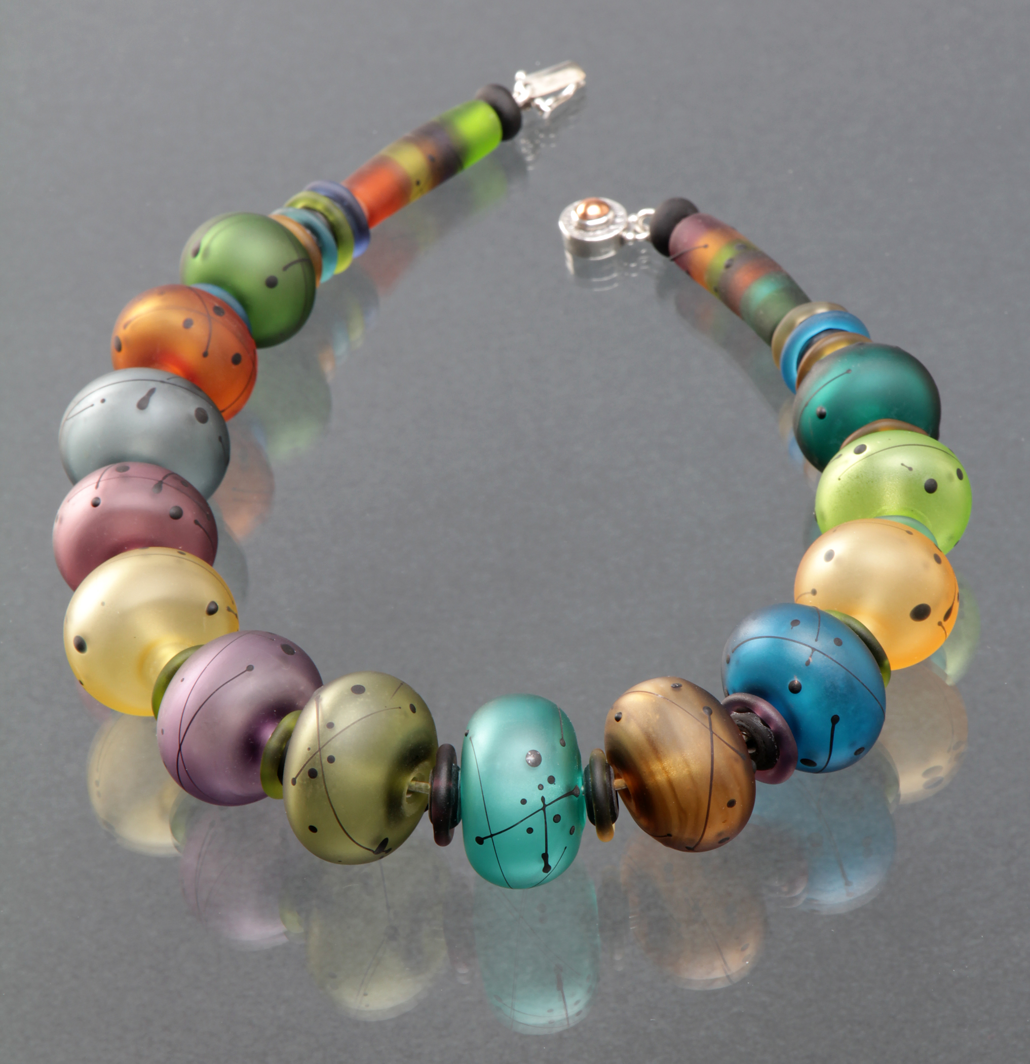 Hollow Bead Necklace, Earthy