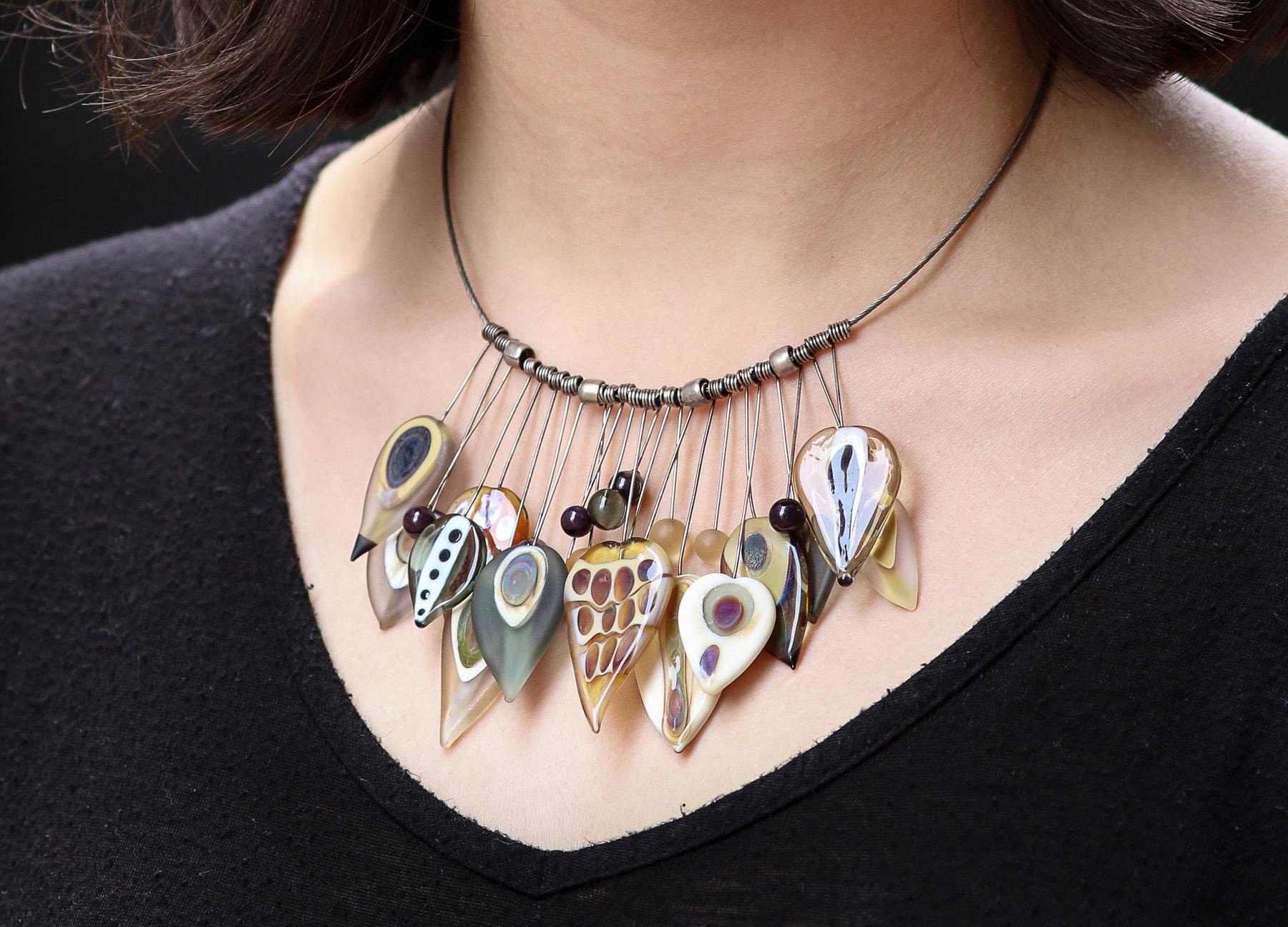 Neutrals Tribal Necklace closeup