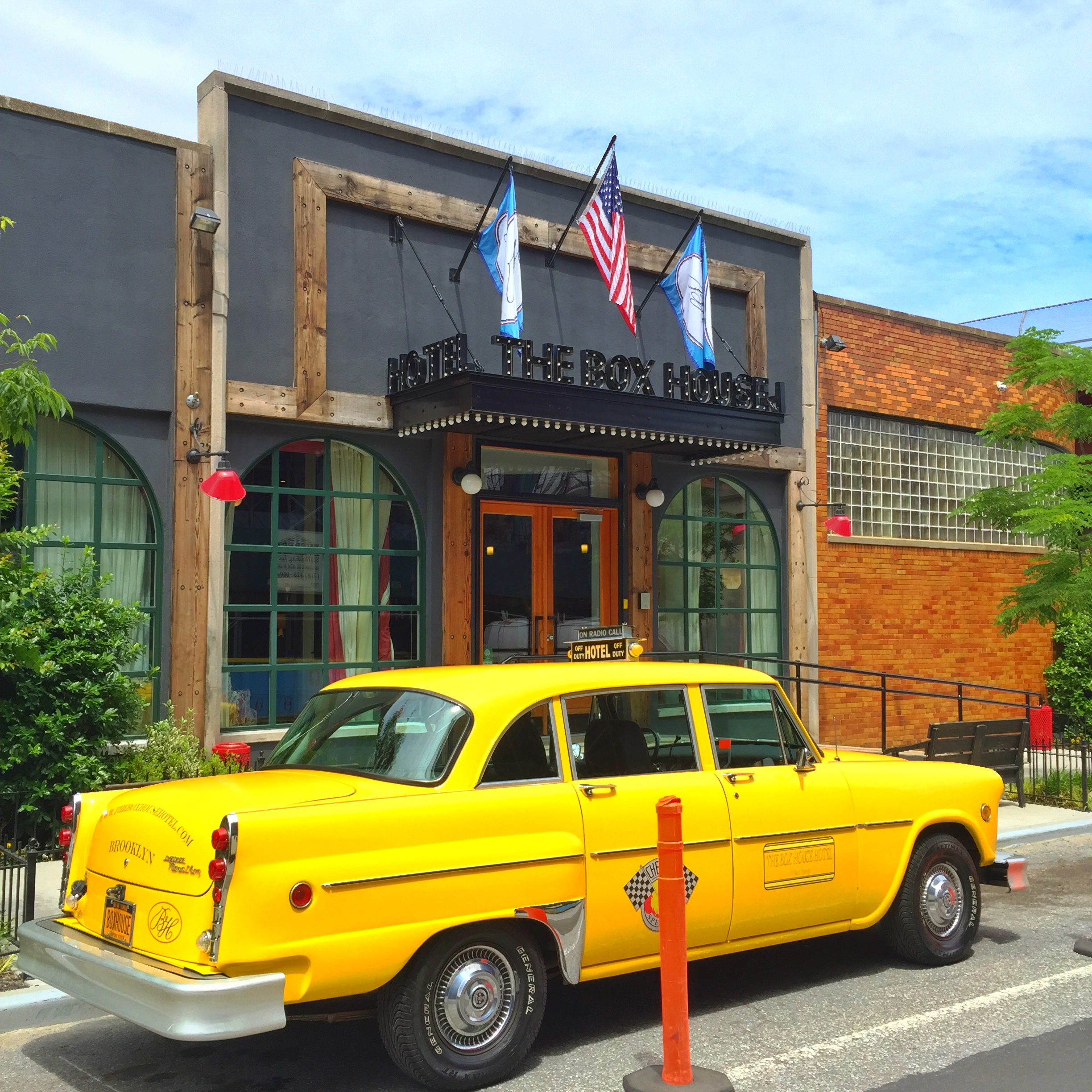 This swanky old cab will drive hotel guests around Greenpoint and Williamsburg!