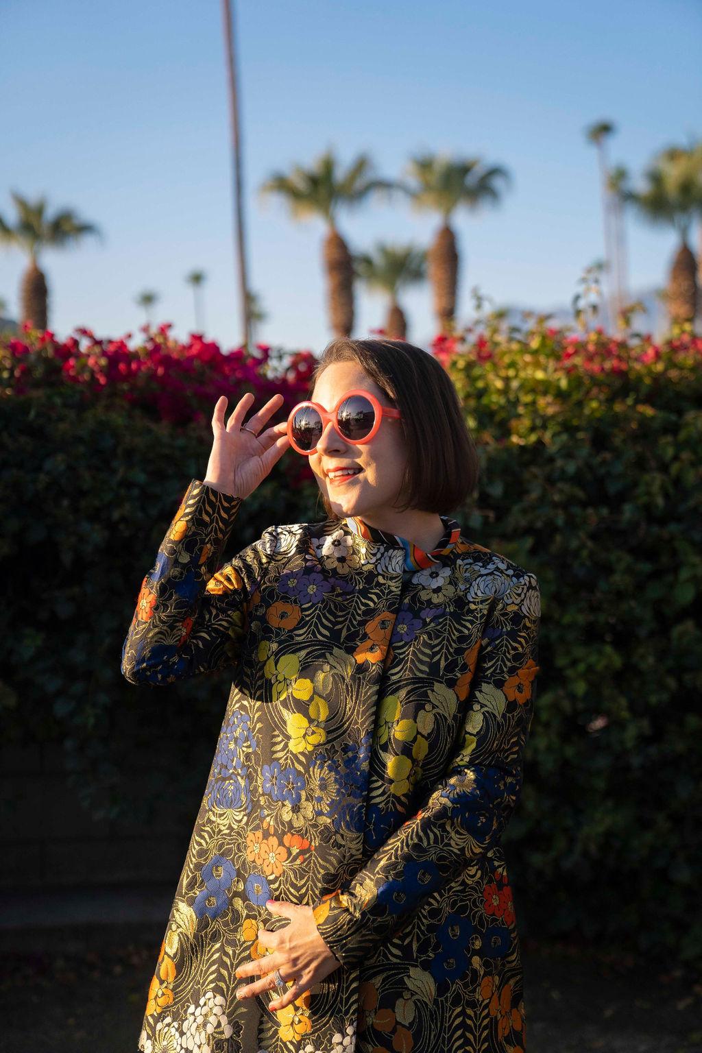Stylish Round Sunglasses from Friedrich's Optik worn by Charleston blogger Charleston Weekender