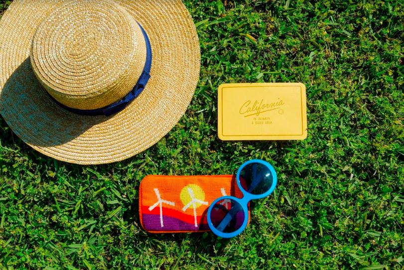 Chic round blue sunglasses from Friedrich's Optik in Charleston SC