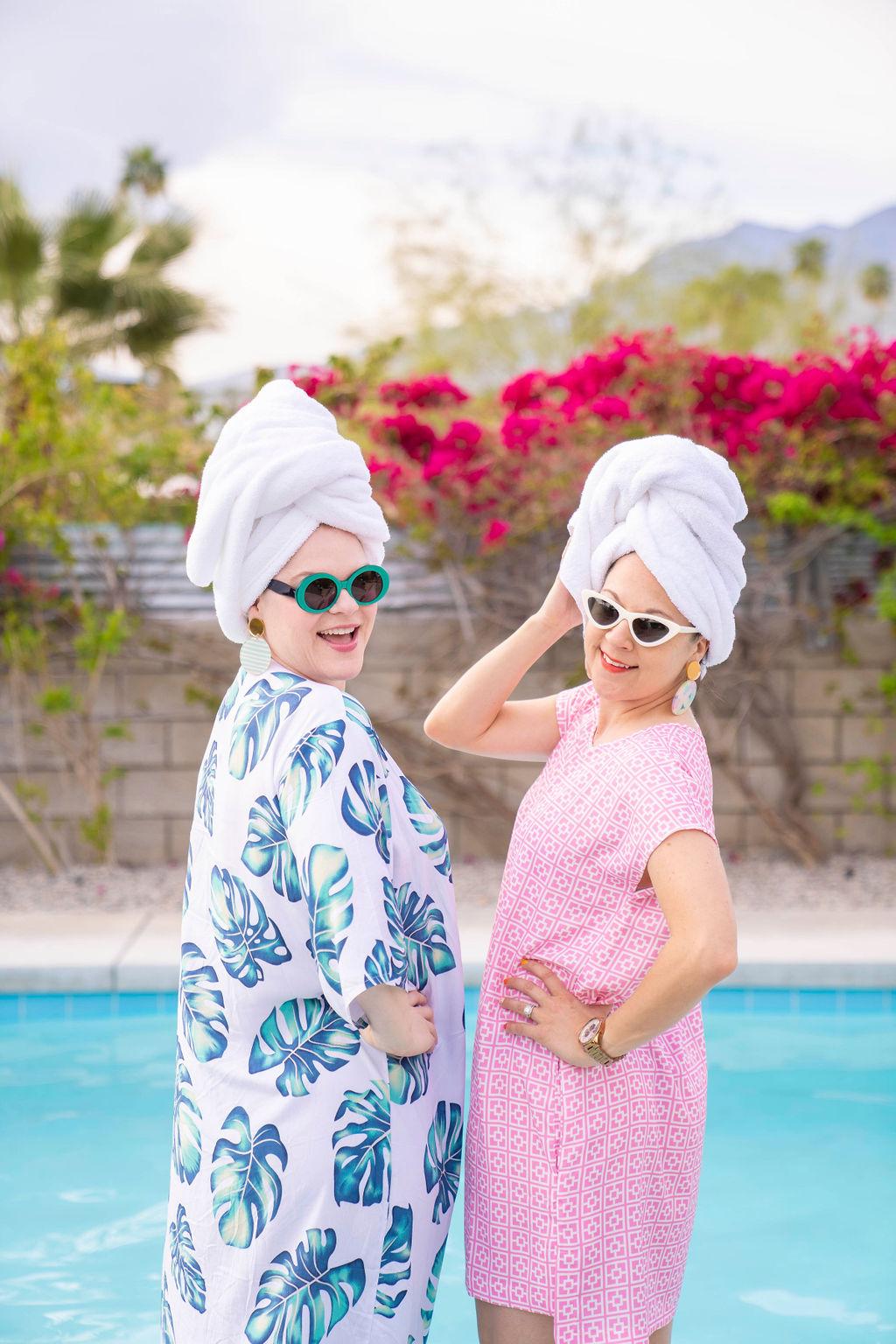 Charleston bloggers wearing chich Friedrich's Optik sunglasses