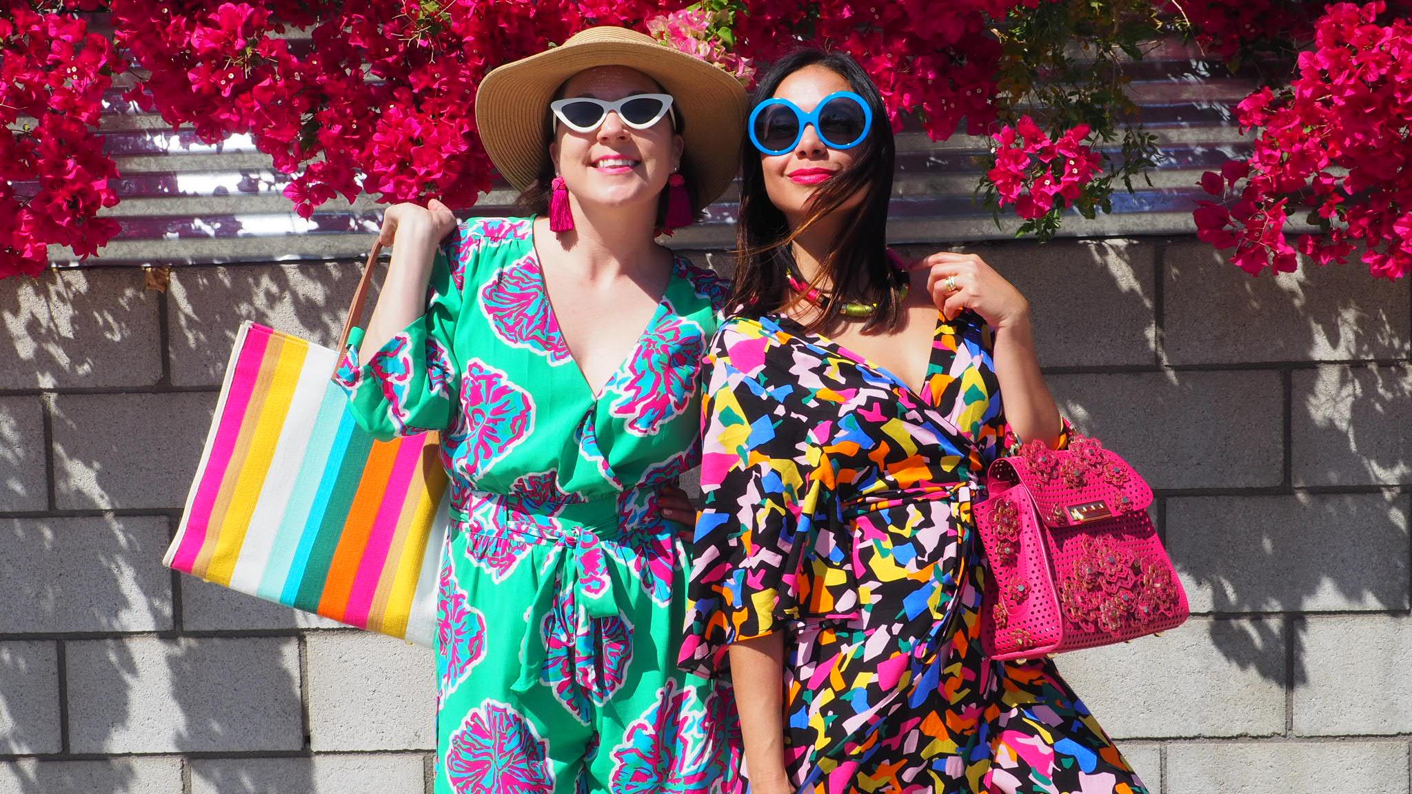 Charleston Weekender & Charleston Shop Curator wearing Friedrich's Optik Sunglasses in Palm Springs California