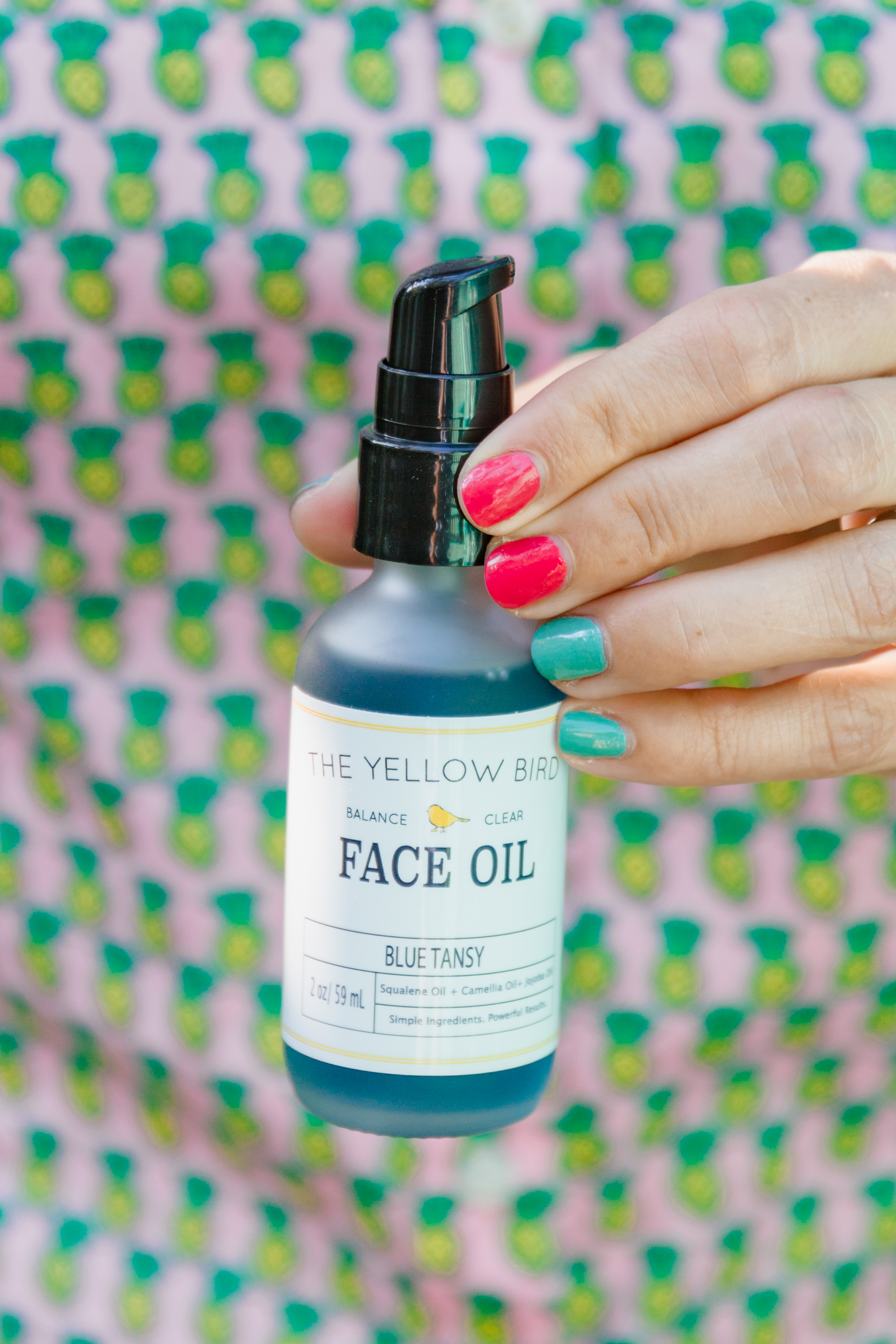 all natural face oil by the Yellow Bird