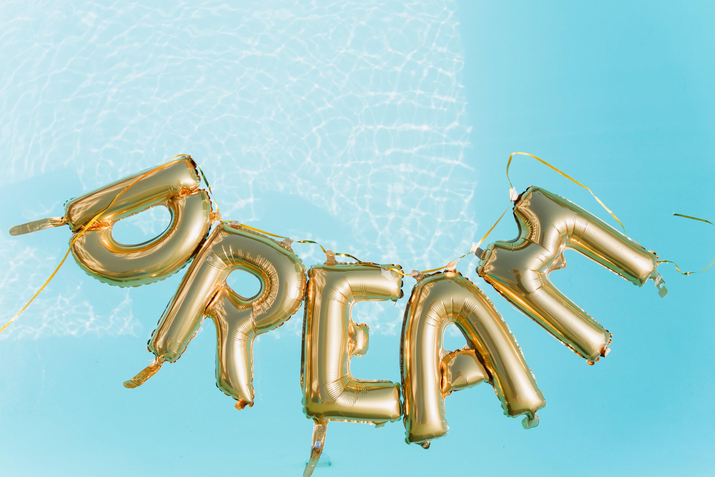 dream mini letter balloons