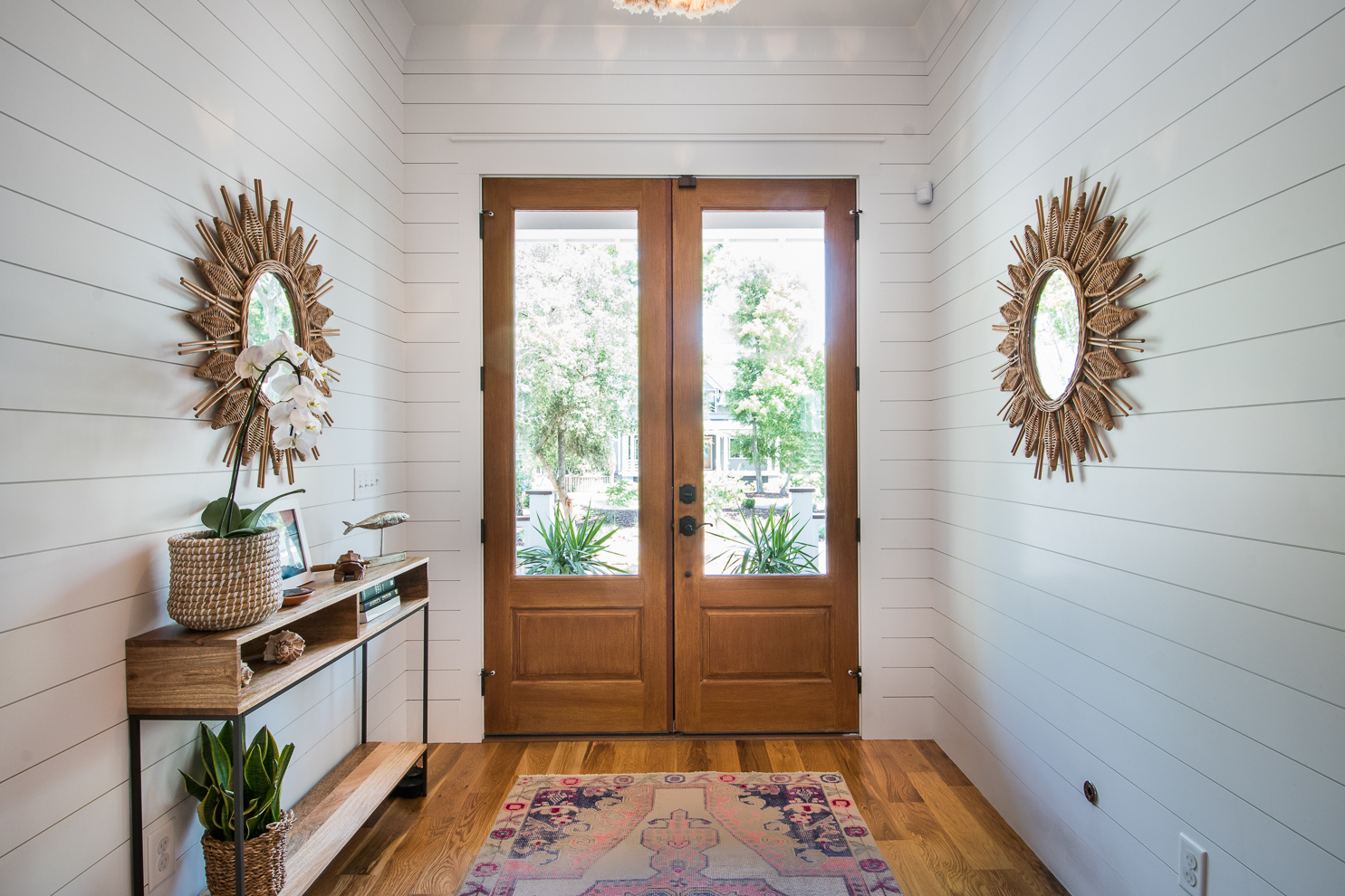 Lowcountry entryway, white with natural accents