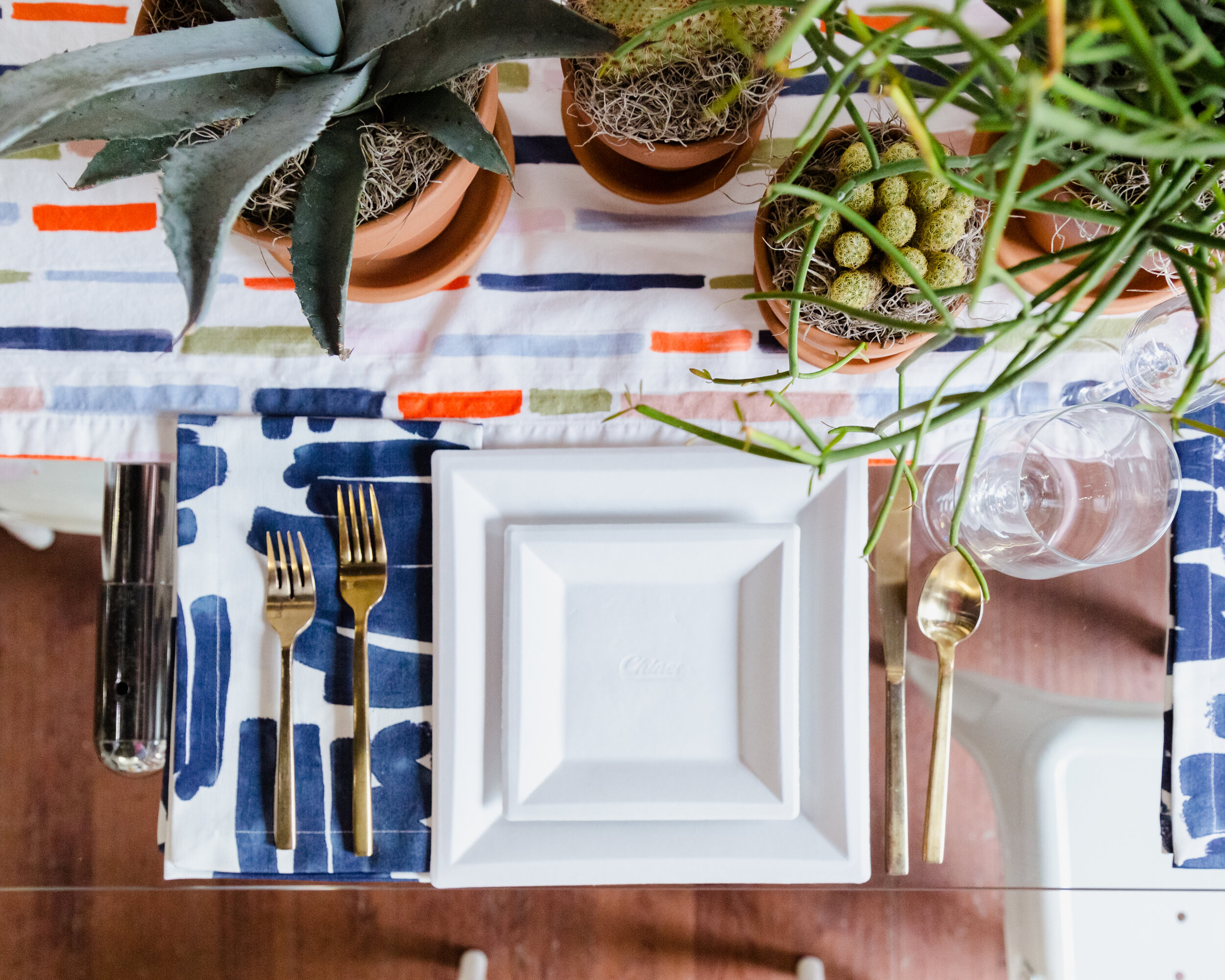 Disposable square plates from Chinet | Charleston Weekender Friendsgiving