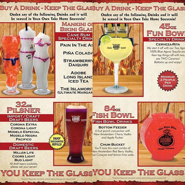 BUY A DRINK...KEEP THE GLASS!