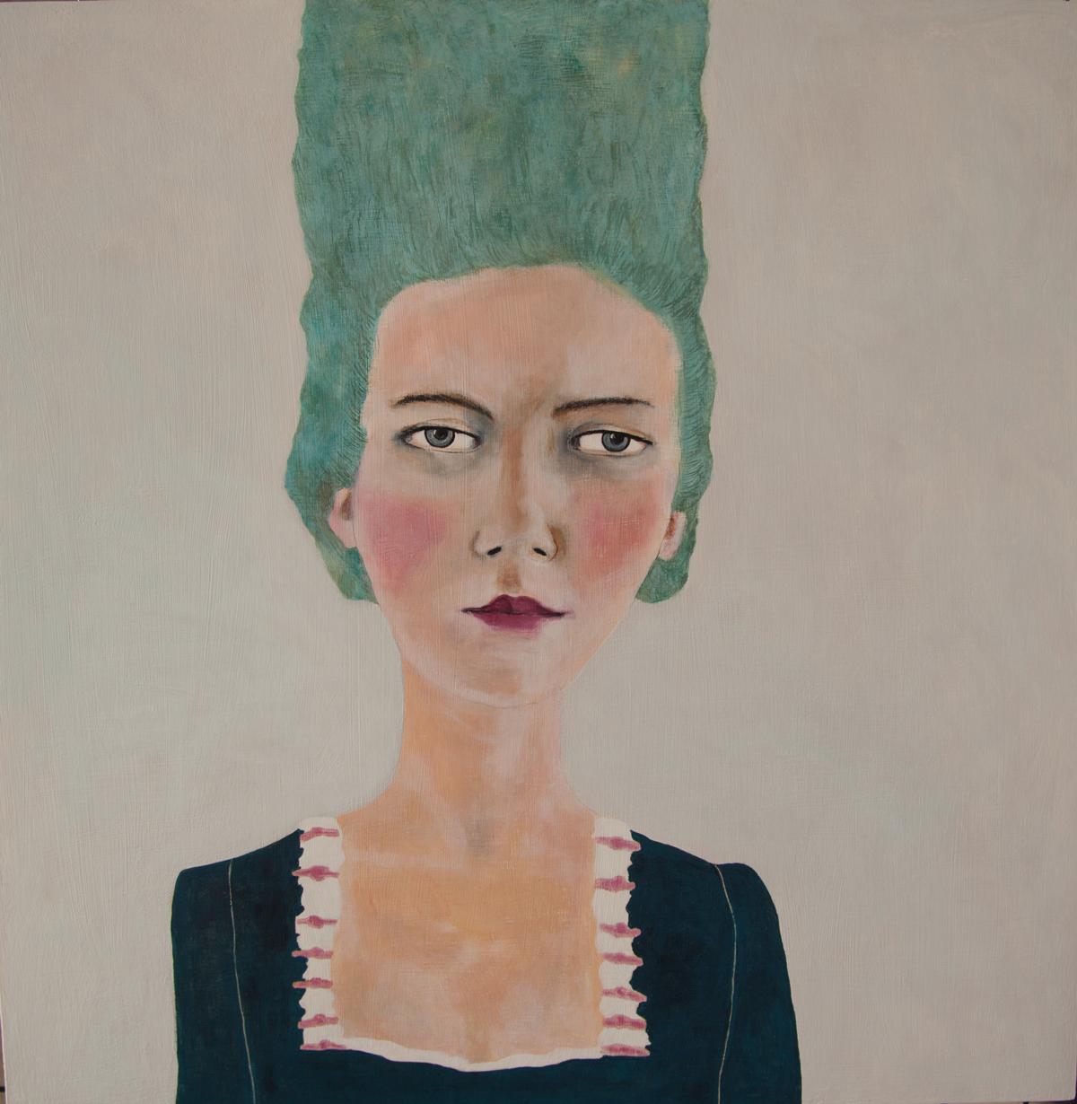 Isabella Di Sclafani. When Marie Antoinette was a Punk Rocker 5. Acrylic on Panel. 2015.