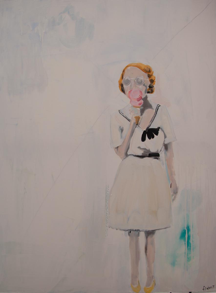 """Frances Hahn. Ice Cream at the Fair. Oil on Canvas. 30 x 40""""."""