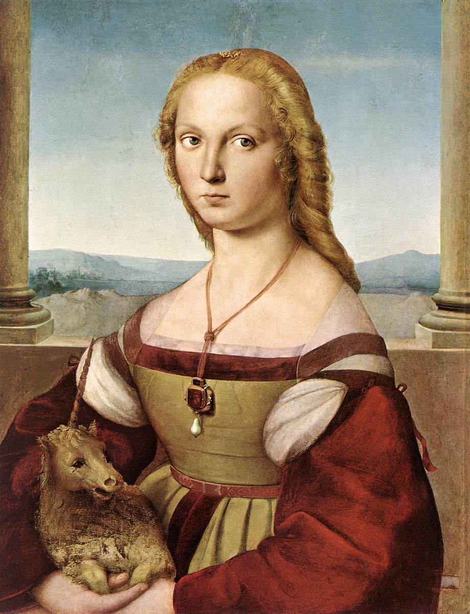 Raphael.  Portrait of a Lady With a Unicorn . 1506.