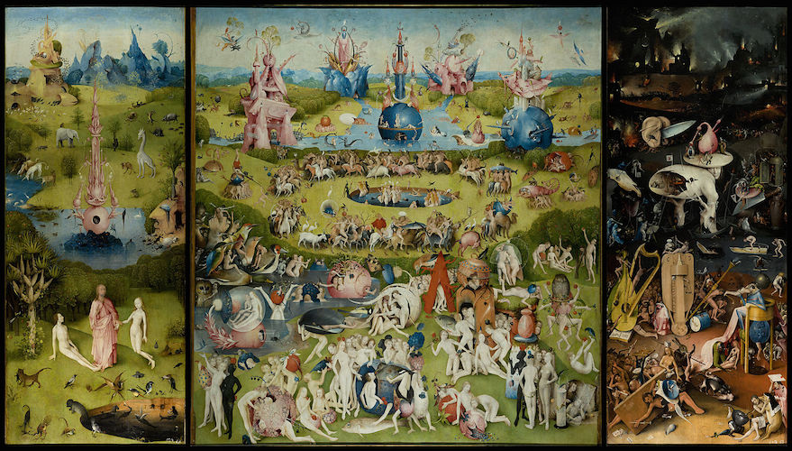 Hieronymus Bosch.  The Garden of Earthly Delights.  1503-1515.
