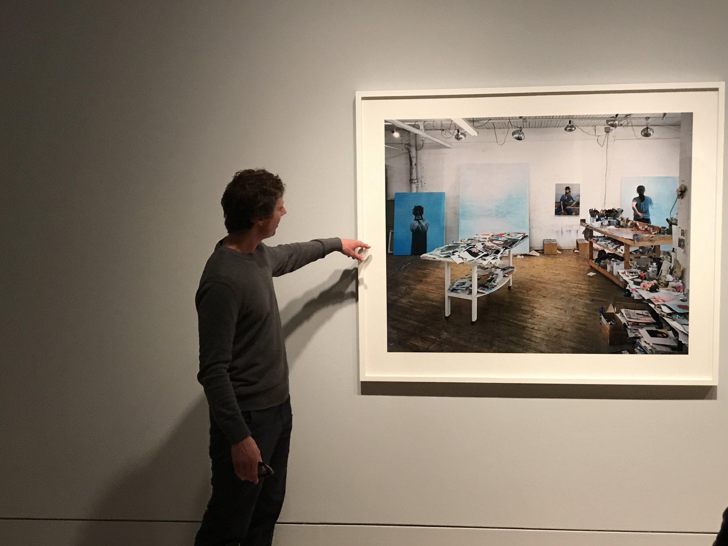 Joseph Hartman explaining his series,  The Artist's Studio