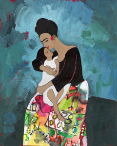 Frida Kahlo and her Wished-For Child: Arsema by Jane Murdoch Adams. You can win this limited edition print! artisneededhere.com