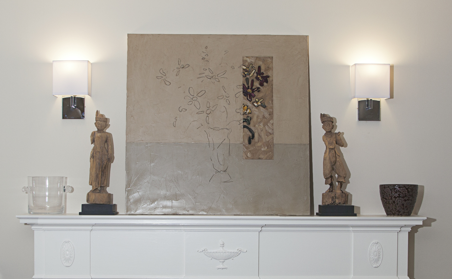 The first piece of art they bought together, by David Grieve.