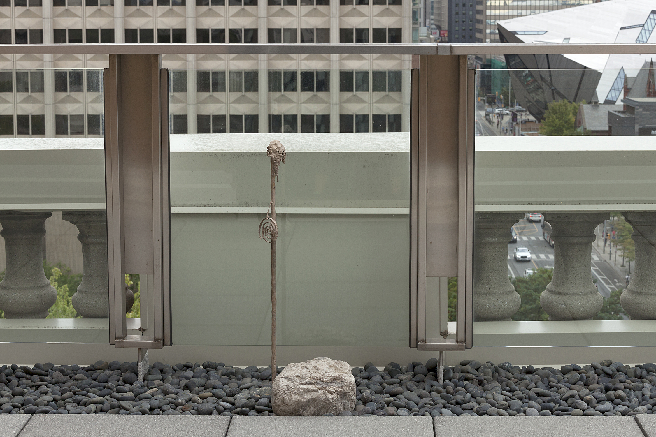 Colin Miner, Untitled (stalactite), 2018-19 Bronze casts, rock, and risographic prints. Dimensions variable