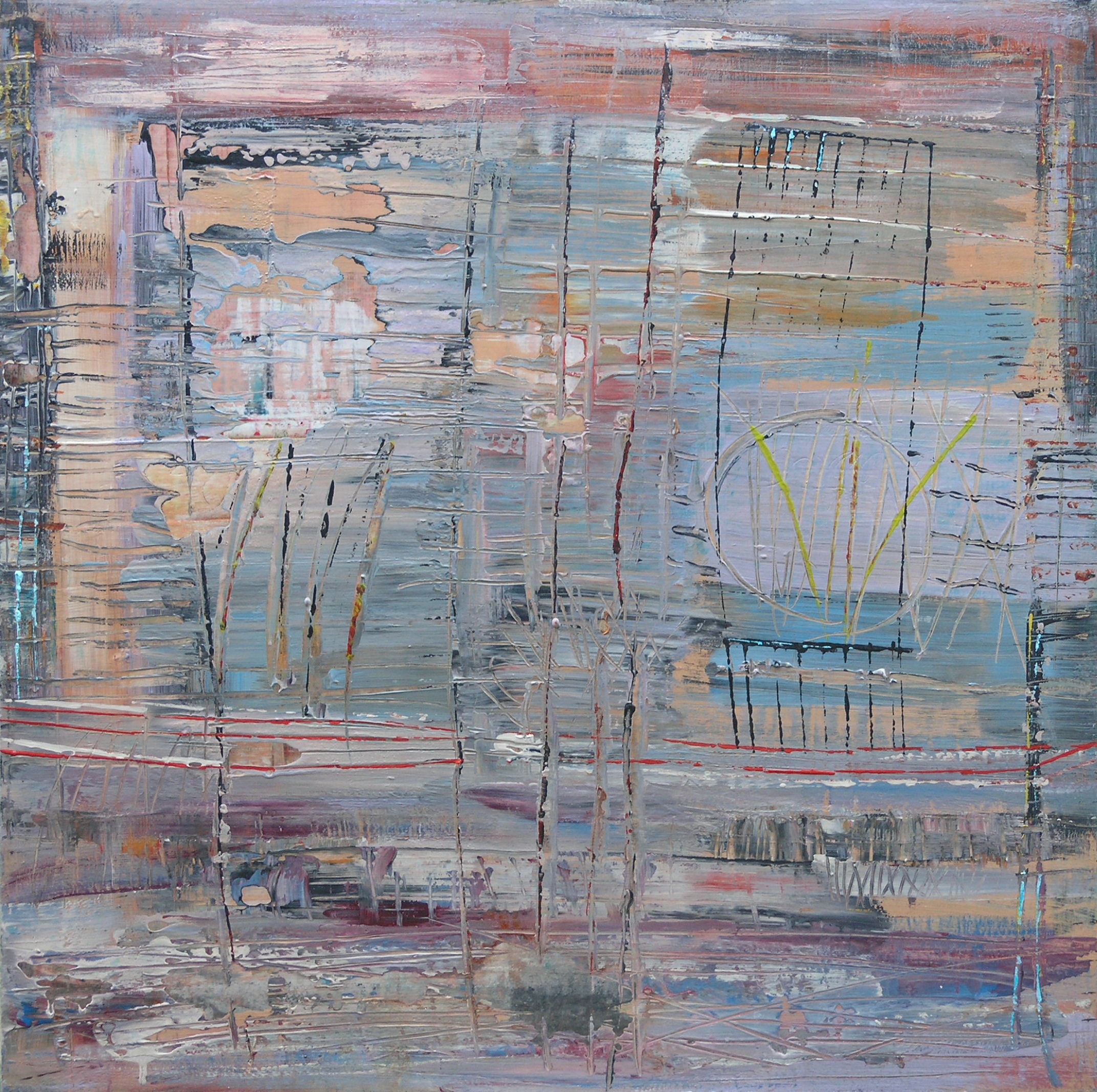 "7th Dimension , Loretta Kaltenhauser, 30"" x 30"", $1,375 CAD (Free shipping, free returns, no additional costs. That's peace-of-mind art buying!)"