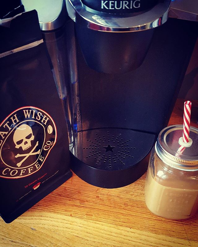 Beyond excited to get our first order of  #deathwishcoffee
