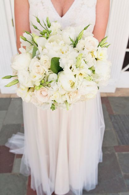 Classic Ivory - You can't go wrong with this timeless look! We always recommend working in multiple blooms to add texture and depth to the bouquet.
