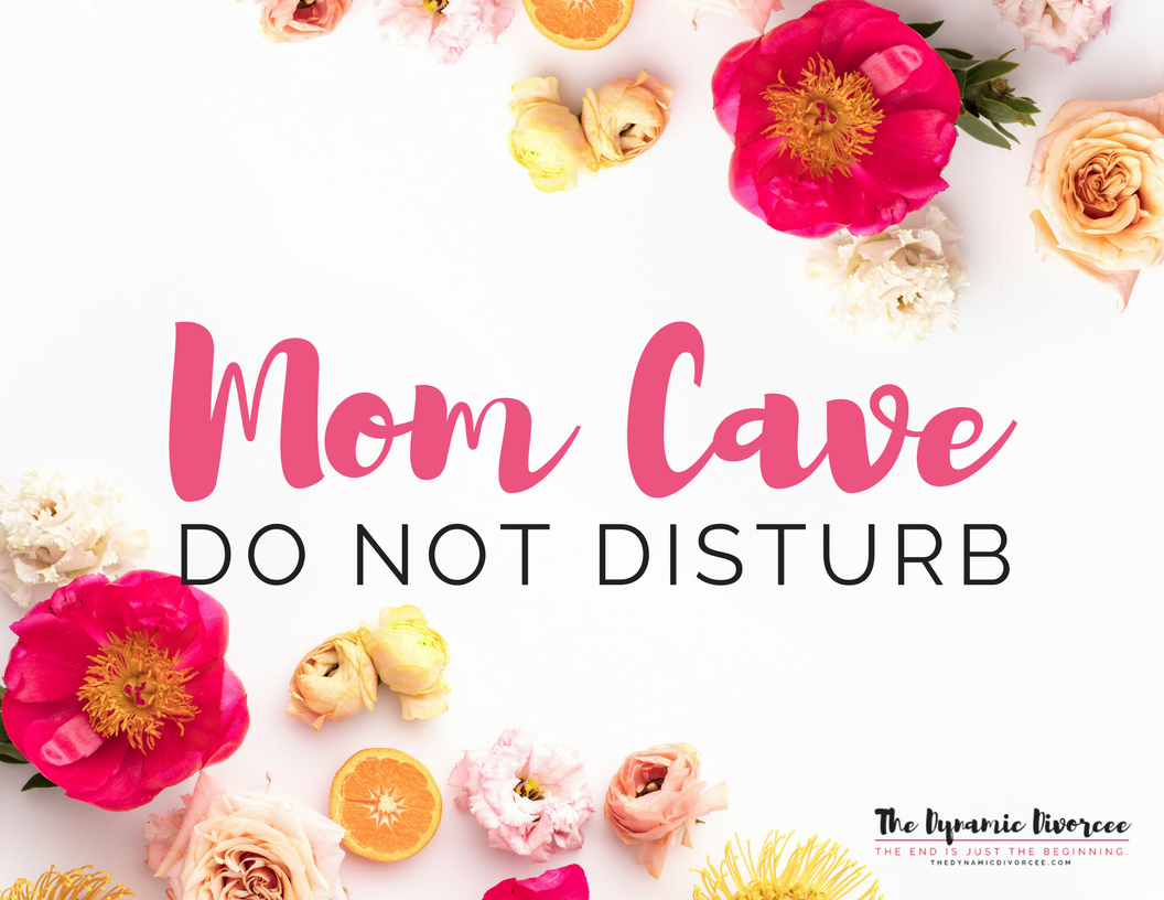 Mom Cave sign, ready for laminating and posting to your bedroom door as part of our rock-your-morning freebie package (see the sign-up box above).