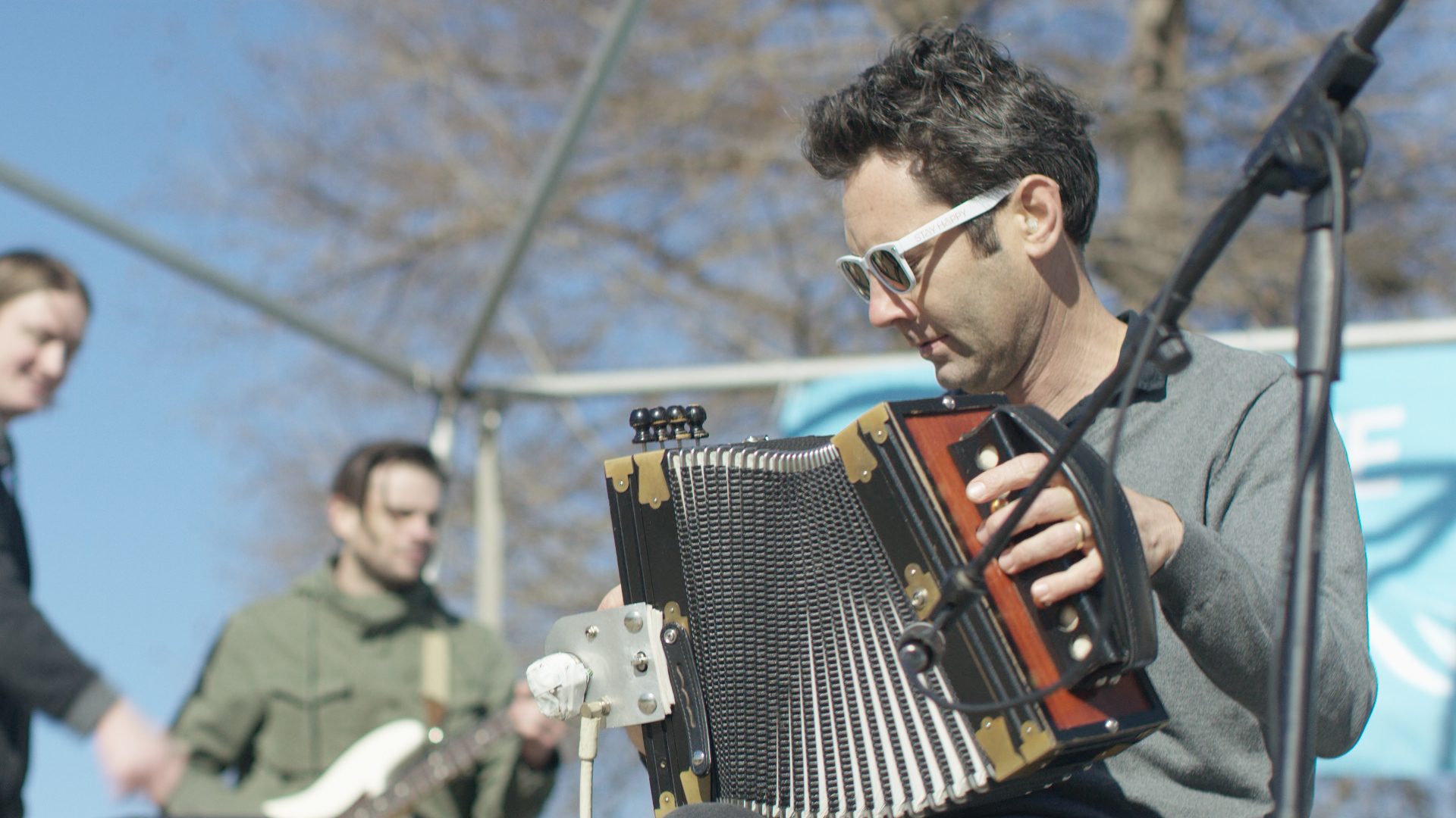 Grammy Award winners the Lost Bayou Ramblers played for two hours during the fest.  PR