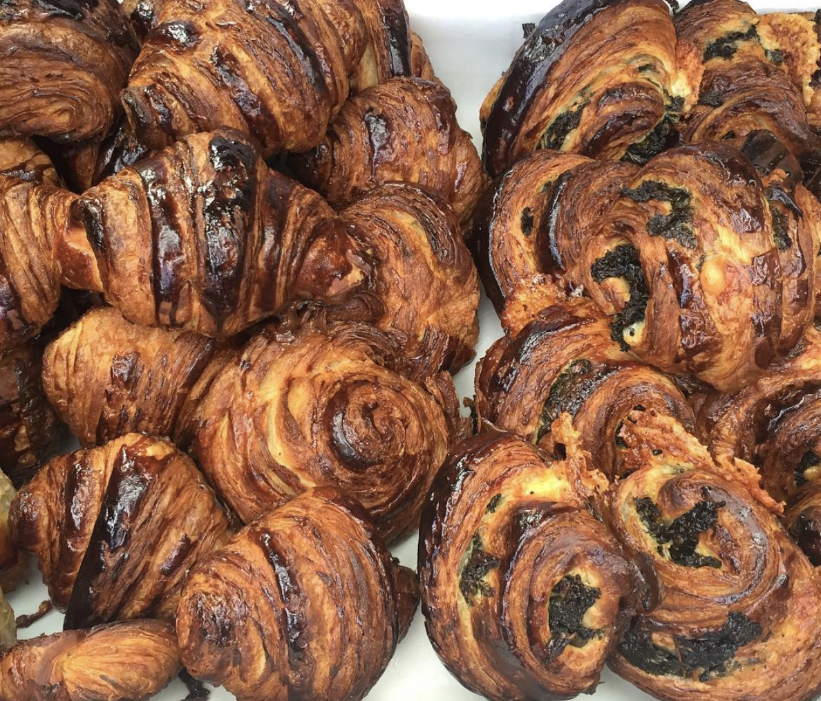 A selection of Kate's sought-after croissants. Before Echo's and depending on the day, one might find Leo's bread and pastries at  St. Roch Market ,  Crescent City Farmer's Market  or Kate herself serving at a pop-up at  Solo Espresso . [Photo via  Leo's Bread ]