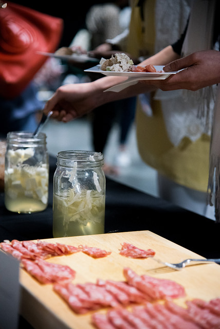 Charcuterie station by Elysian Seafood for New Orleans Entrepreneur Week. Photo by  Monwell Frazier .