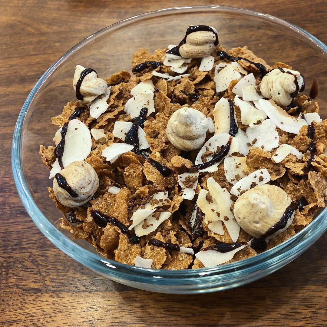 Coffee Meringue Cereal by Kellogg's NYC