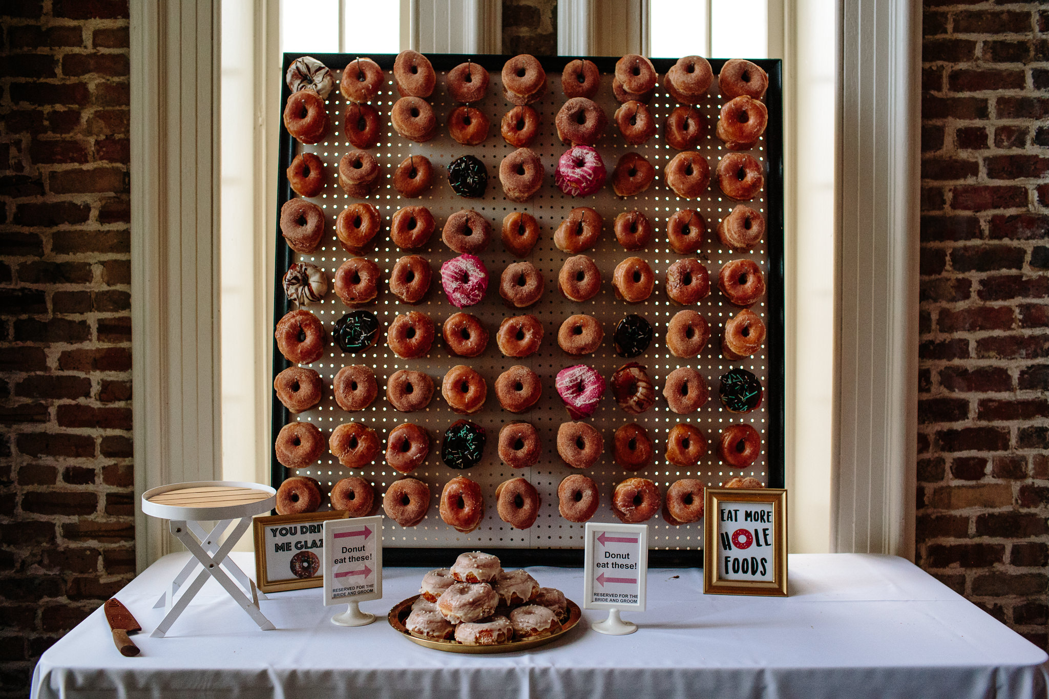 Photo of a donut wall for a private event by  My House Social