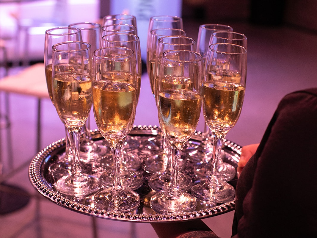 New York Times Champagne Cheers Cities for Tomorrow Conference Corporate Catering by My House Social