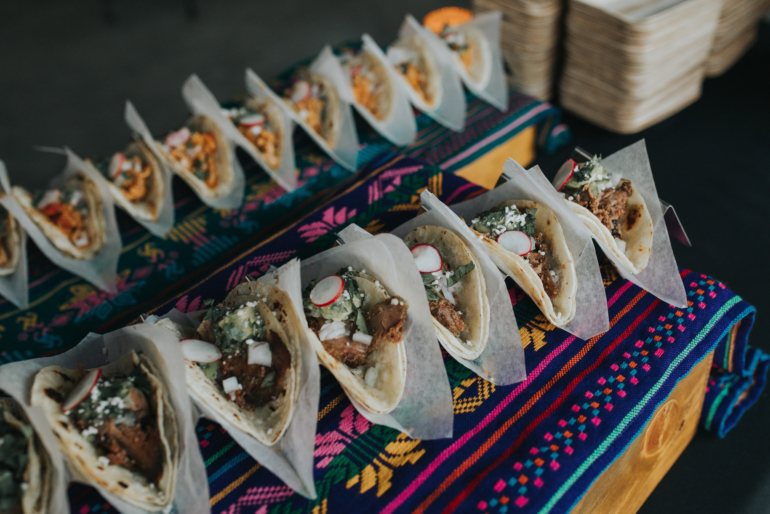 Capulet Bywater New Orleans Wedding Catering Taco Bar Display