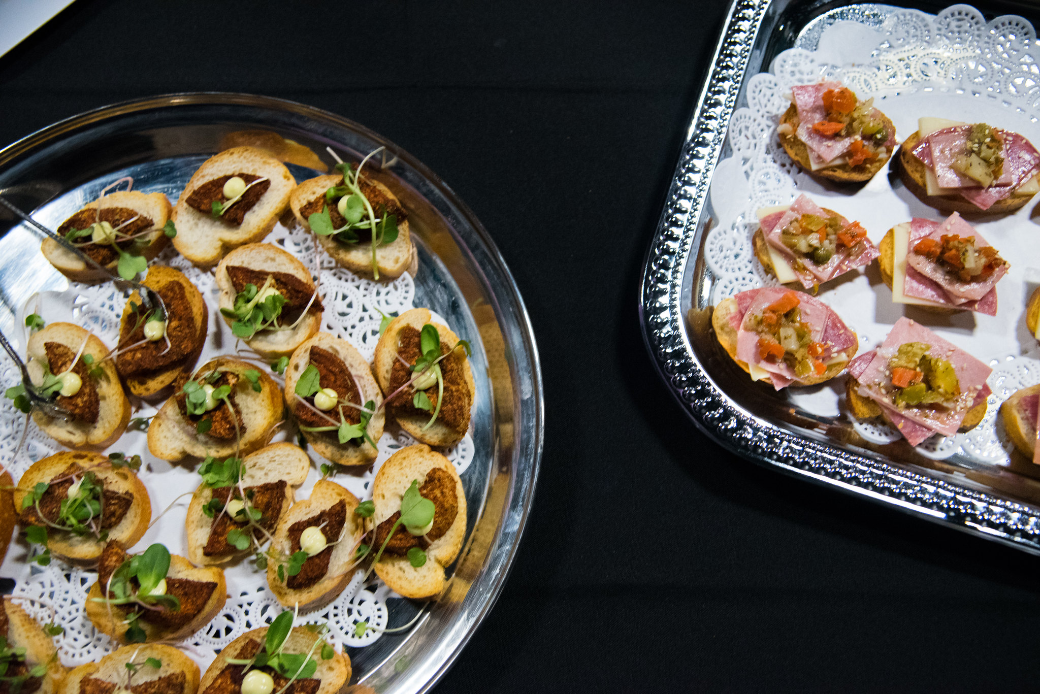 Elysian Events Signature Crostinis New Orleans Catering Joy Theater