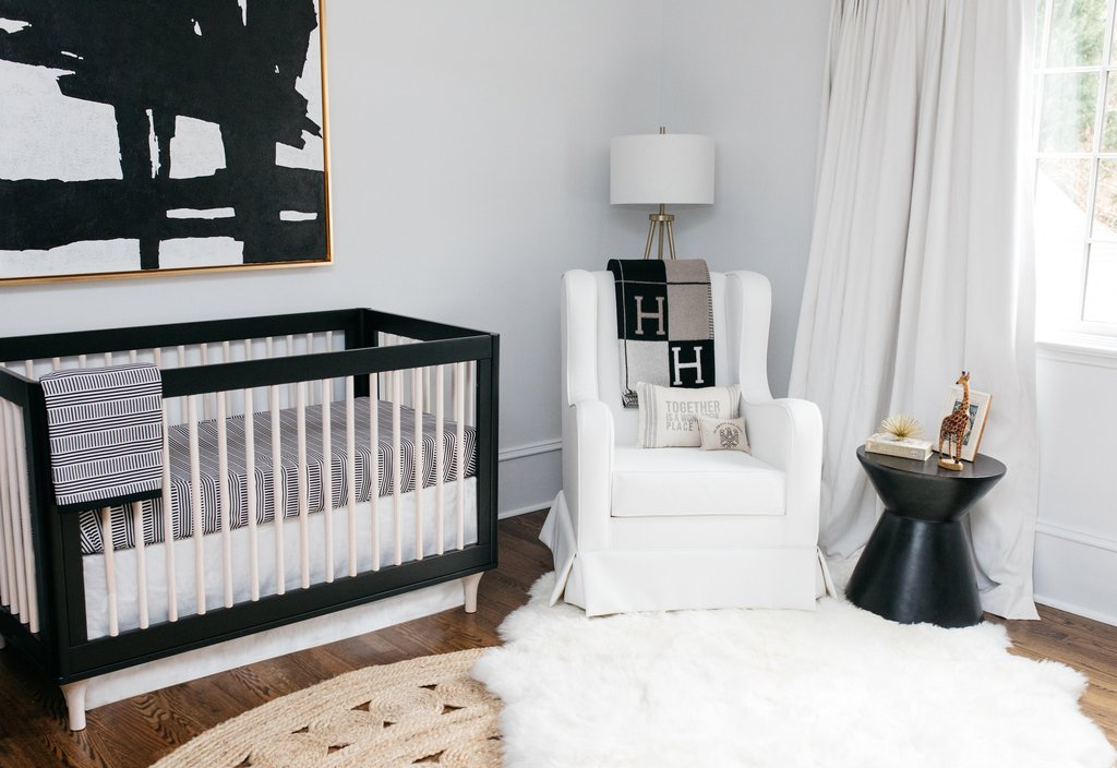 Emily Maynard's of the Bachelor Nursery Reveal, Babyletto Lolly Crib, Oilo Bedding & Penelope Glider