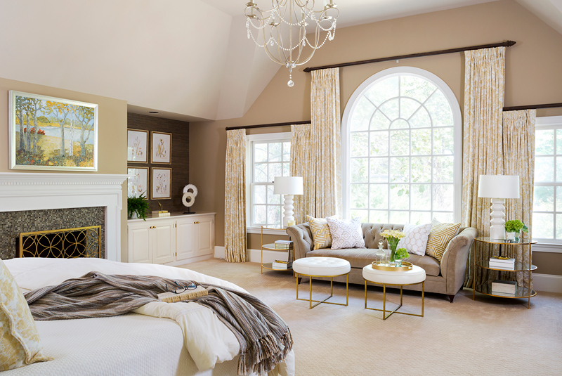 Beautiful Master Bedroom Drapes by Laurie Mcparland Designs