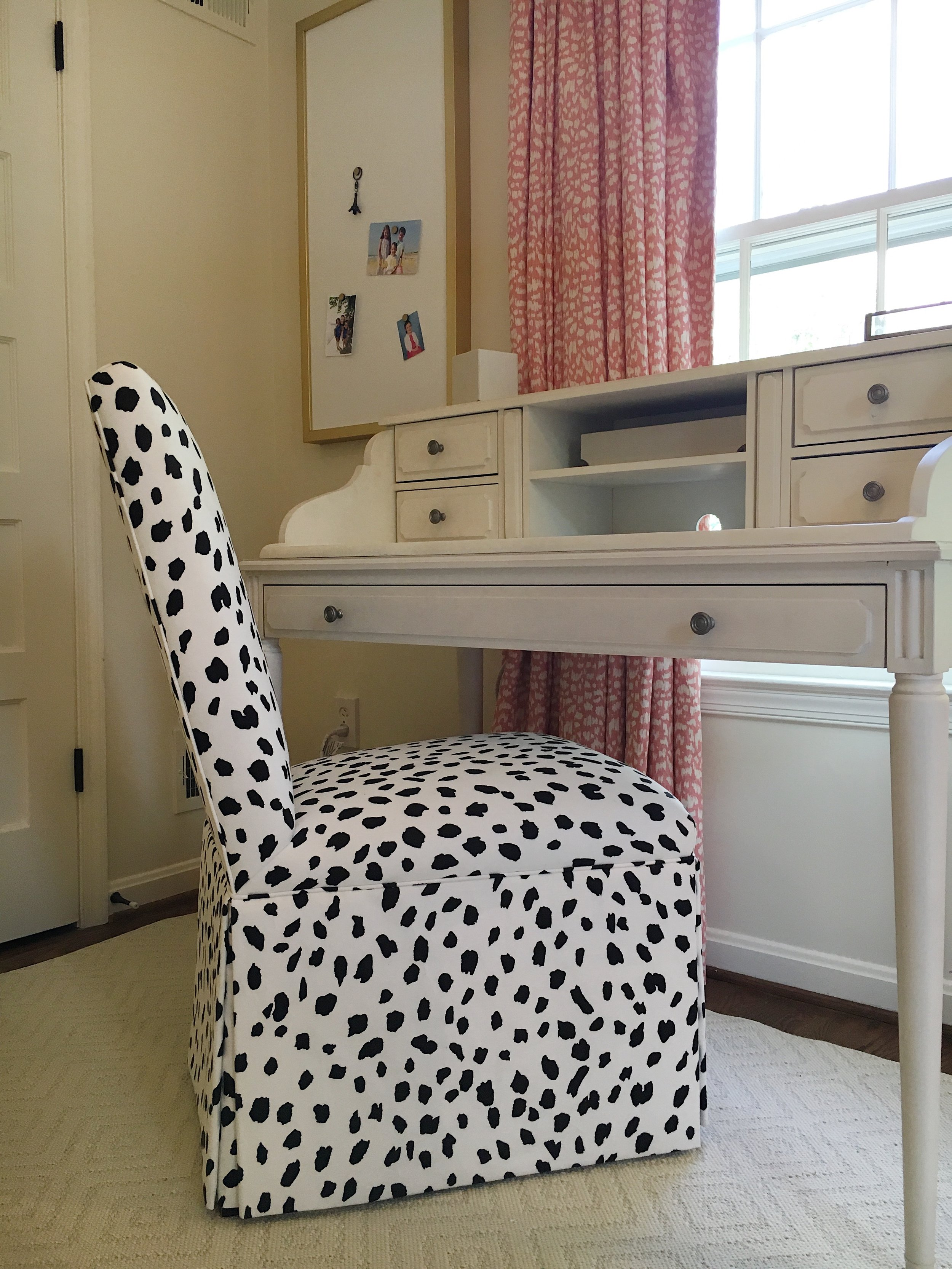 AFTER: Yi's Re-upholstered Parson's Chair