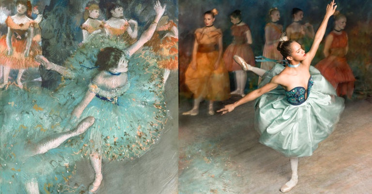 "Copeland as ""Swaying Dancer (Dancer in Green)."""