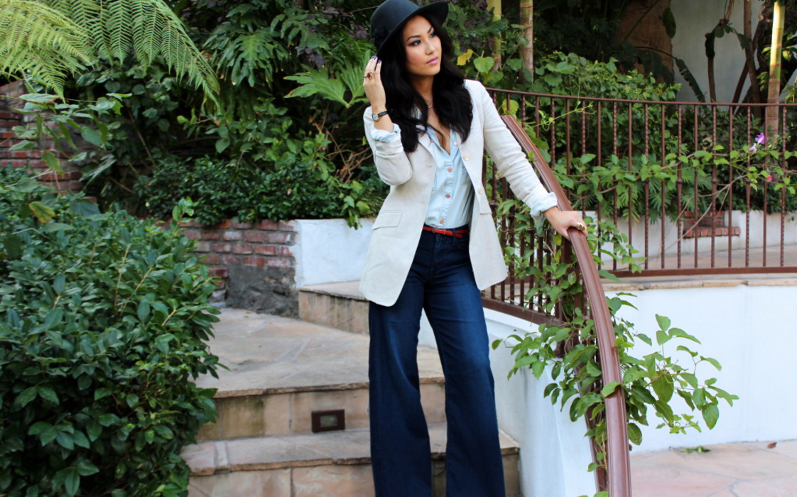 SWIRL STYLE DENIM WITH A TOUCH OF LINEN via Swirl Nation Blog