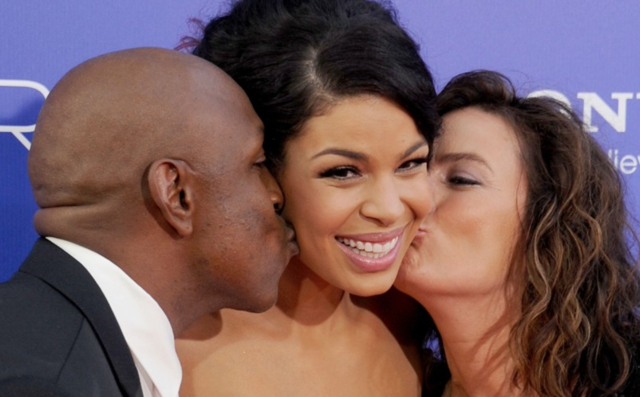 Jordin Sparks. The actress and singer was born to a black father and a white mother.