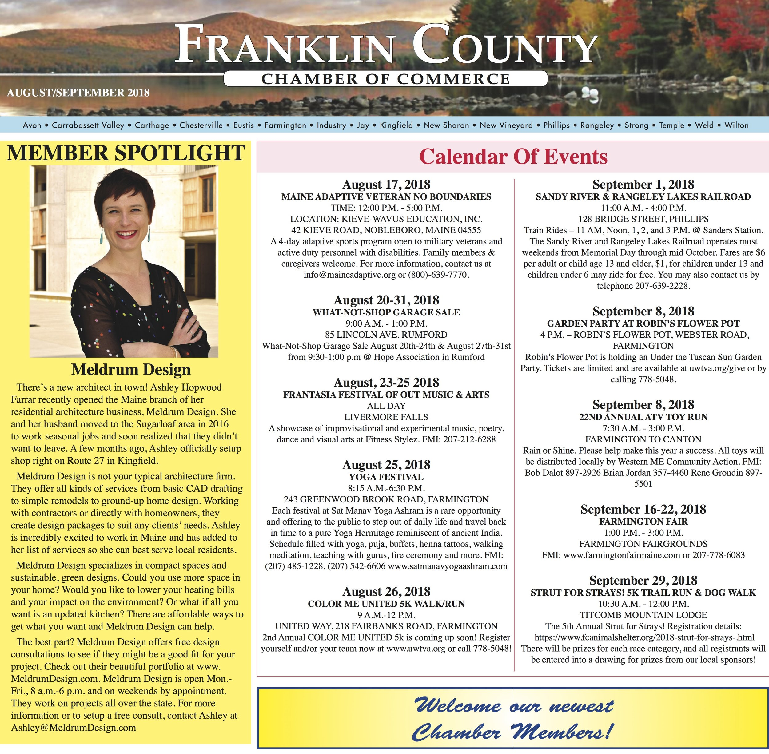Living in a rural place, I sometimes struggle to connect with like-minded business professionals. 🌲 The Franklin County Chamber of Commerce has been an amazing resource. 👍🏻 I love them and apparently they like me too! 😍 I'm Chamber of Commerce famous! ⭐️